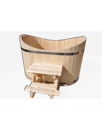 Træ oval badekar