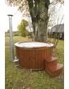 1,82 m Glasfiber hot tub med integrerrede ovn