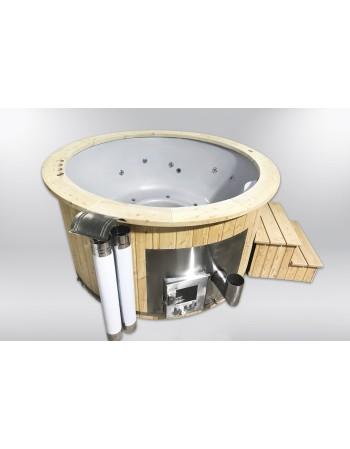 Økonomisk glasfiber badestamp med 2 varmeelementer 180cm