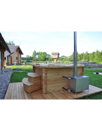 Badekar rektangulære plast lærk træ