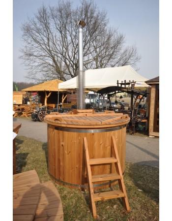 160 cm diameter termo træ badekar