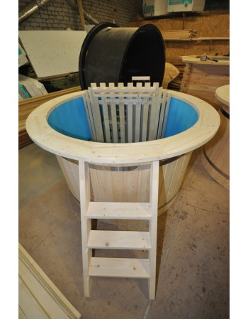 Tilbud: blå plast gran træ badekar