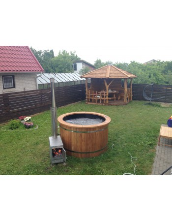 Sort plast termo træ badekar 1,6 m