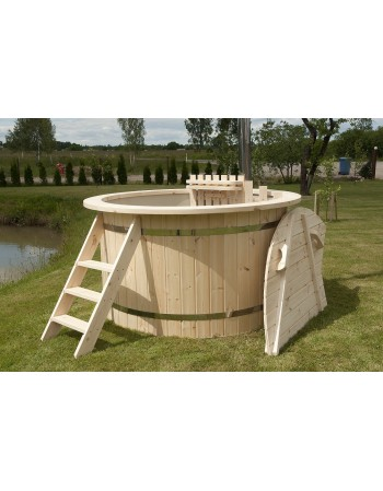 Billigere! Plast badestamp med gran trim 150cm