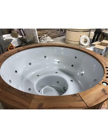 Fantastiske komfortable glasfiber badekar 182 cm