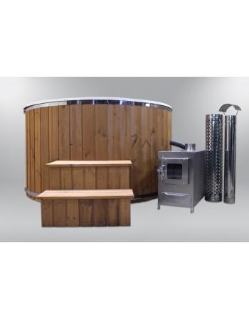 Fiberglass badestamp med glasfiber sill 180cm