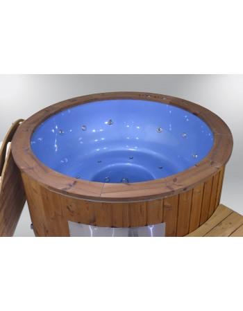 Eksklusive glasfiber badestamp blå farve 182cm